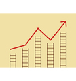 Growth chart with ladders vector image vector image