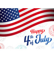 happy 4th july usa independence day banner vector image