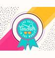 happy teachers day vector image vector image