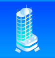 intelligent building icon isometric style vector image