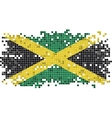 Jamaican grunge tile flag vector image vector image