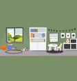 kindergarten or kid room interior empty cartoon vector image vector image