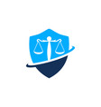 lawyer legal law firm logo design vector image