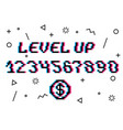 level up pixel vector image