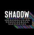 long colorful shadow font alphabet letters and vector image