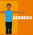 man doing aerobics vector image