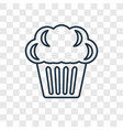 muffin concept linear icon isolated on vector image vector image