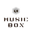 music box logo vector image vector image