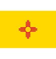 New mexican state flag vector | Price: 1 Credit (USD $1)