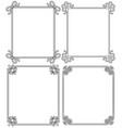 ornamental frames with vintage decor bows elements vector image vector image