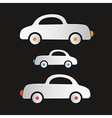 Paper Cars on Dark Background vector image