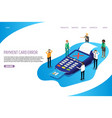 payment card error website landing page vector image vector image