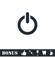 Power icon flat vector image vector image