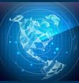 radar screen north america digital screen vector image vector image