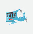 ramadan sale offer banner vector image vector image