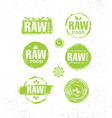 raw diet wholesome healthy food creative sign vector image