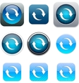 Refresh blue app icons vector image vector image