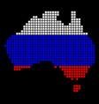 russia colors dot australia map vector image vector image
