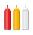set blank plastic bottles for fast food vector image vector image