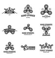 set of hand spinner logo emblems and icon fidget vector image
