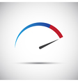 Simple thermometer tachometer speedometer icon vector image vector image