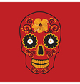 Skull with ornament vector image vector image