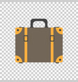 suitcase flat on isolated background case for vector image vector image