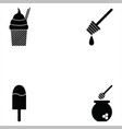 sweets icon set vector image vector image
