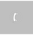 Telephone computer symbol vector image