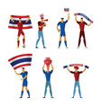 thailand football fans cheerful soccer vector image vector image