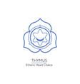 thymus - chakra human body vector image vector image