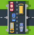 top view road vector image vector image