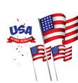 usa national celebration poster template design vector image