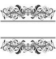 vintage floral dividers decorative ornaments for vector image