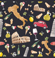 watercolor italian pattern vector image vector image