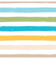 watercolor seamless pattern with stripes vector image vector image