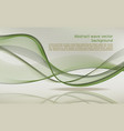 abstract wave background in green color vector image