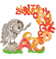 Owl and alphabet vector image