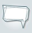 low polygon blue speech talk balloon diamond vector image
