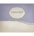 Vintage background with ripped old paper vector image