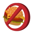 Fast food danger cartoon icon vector image