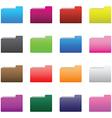 0210 folder icons set vector image vector image