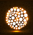 abstract ball of glowing circles vector image vector image