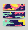 abstract fun banners with modern liquid splashes vector image