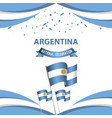 argentina national celebration poster template vector image vector image