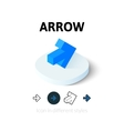 Arrow icon in different style vector image vector image