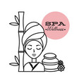 beauty girl spa vector image