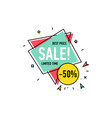 best price sticker in trendy linear style vector image vector image