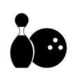 black icon pin and ball cartoon vector image vector image