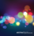 Blurred lights vector image vector image